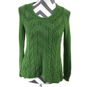 Anthropologie Sparrows Crochet Knit Howth Pullover